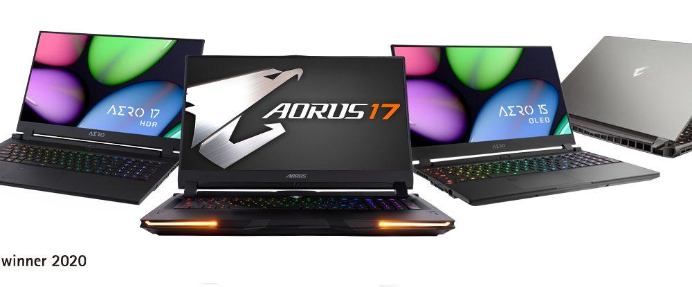 GIGABYTE gana el premio Red Dot Design Award 2020 por sus nuevos portátiles AERO y AORUS