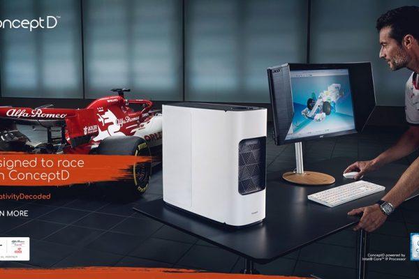 Acer lanza hoy su primera campaña de comunicación sobre ConceptD en colaboración con Alfa Romeo Racing ORLEN